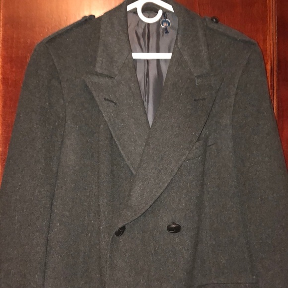 Austin Reed Jackets Coats Austin Reed Mens Charcoal Pure Virgin Wool Coat Poshmark